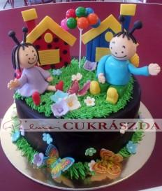 20 szeletes Bogyó és Babóca torta