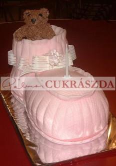 Keresztelő torta. Rendelhető legkisebb méret 15 szeletes