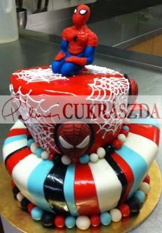 2 emeletes, 30 szeletes Pókember torta