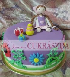 15 szeletes kislány torta
