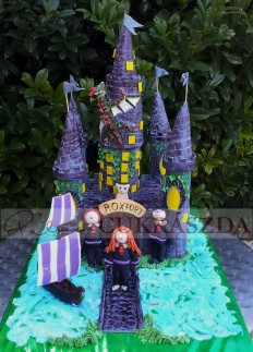 20 szeletes Harry Potter/Roxfort vár torta