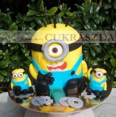 15 szeletes Minion torta