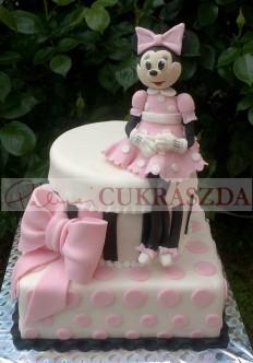 Emeletes Minnie torta, egy szintesben is rendelhető