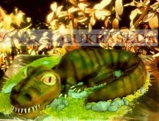 15 szeletes T-rex torta