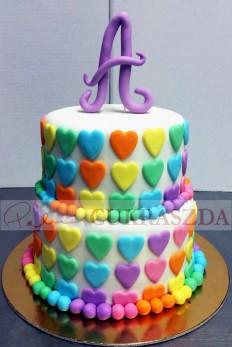 A-132 szivecskés torta