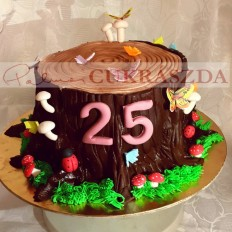 15 szeletes farönk torta