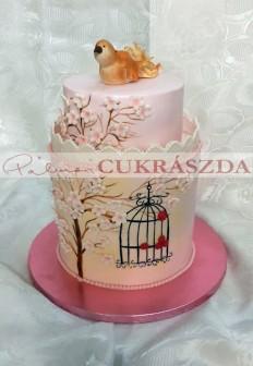 30 szeletes torta, rendelhető kisebb méretben egy szintes kivitelezésben is