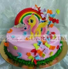 20 szeletes my little pony torta