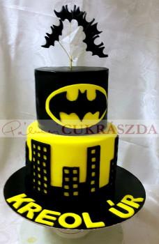 25 szeletes Batman torta