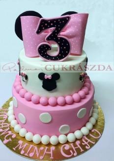 25 szeletes torta, legkisebb rendelhető méret 20 szelet, vagy 15 szelet egy szintes