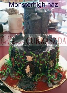20 szeletes Monster High ház torta