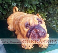 15 szeletes angol bulldog torta