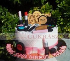 15 szeletes torta MAC kozmetikai szerekkel