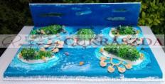 100 szeletes Maldiv-szigetek torta