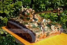15 szeletes tank torta