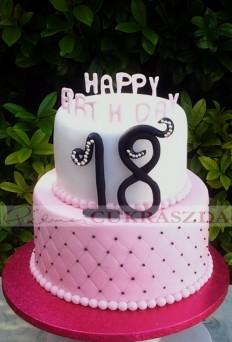 25-30 szeletes emeletes születésnapi torta