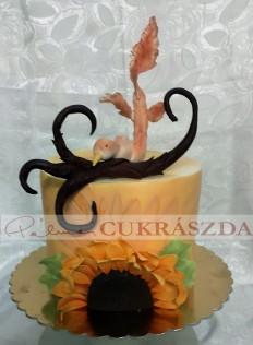 15 szeletes torta