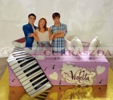 24 szeletes szögletes Violetta torta