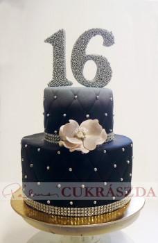 25 szeletes születésnapi torta